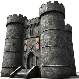 3ds max castle fortress tower