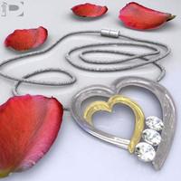 heart jewel art 3d model