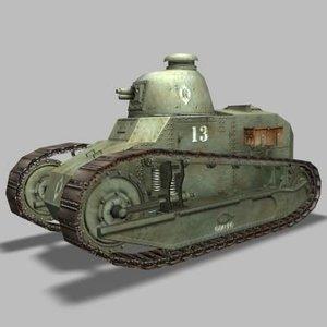 3d model renault tank