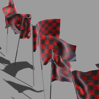 3d model static flags