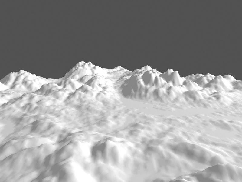 terrain landscape 3d max
