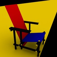3d model chair designed gerit