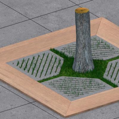 3d model tree grate 01