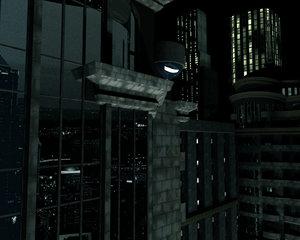 3d night city cityscape model