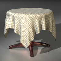 3d model bistro table cloth