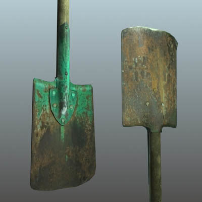 rusty shovel 3d 3ds