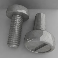 3d model of screw