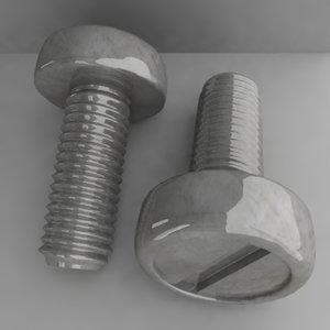 3d model of screw