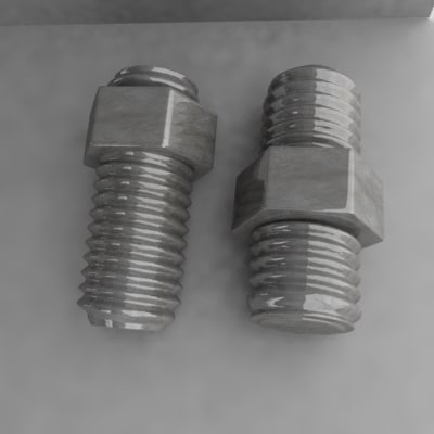 3d nut screw