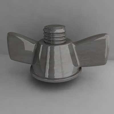 3d deck nut model