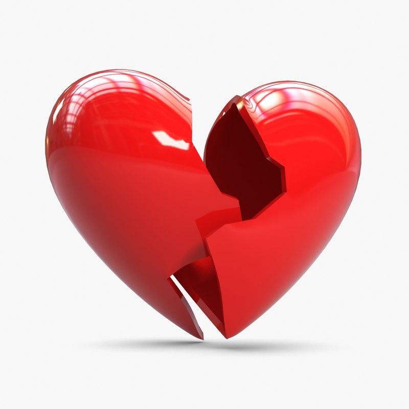 3ds max broken heart shell