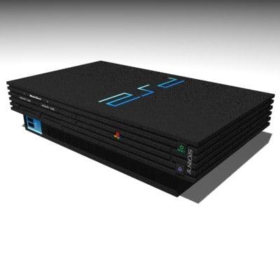 playstation2 playstation 3d model