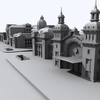 3d model railway station buildings