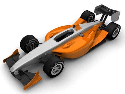 3d model 2007 champcar