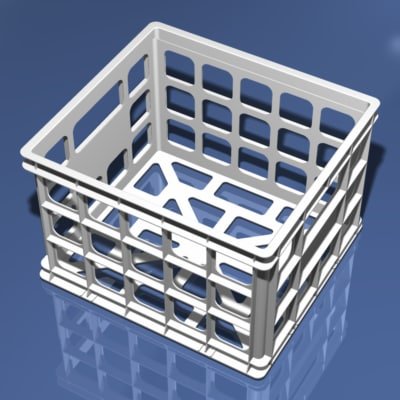 3d plastic storage model
