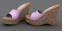 Cork Wedge Shoe