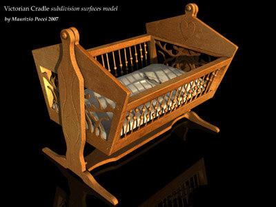 3d cradle victorian model