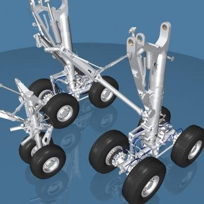 airbus a330 landing gear 3d model