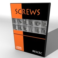 3d model screw parts