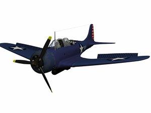 3d model dauntless dive bomber