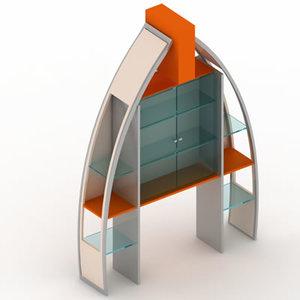 display rack cabinet 3d max