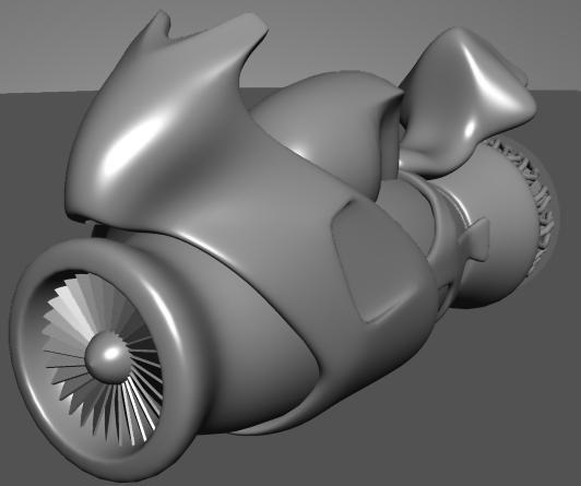 3d model bike speed
