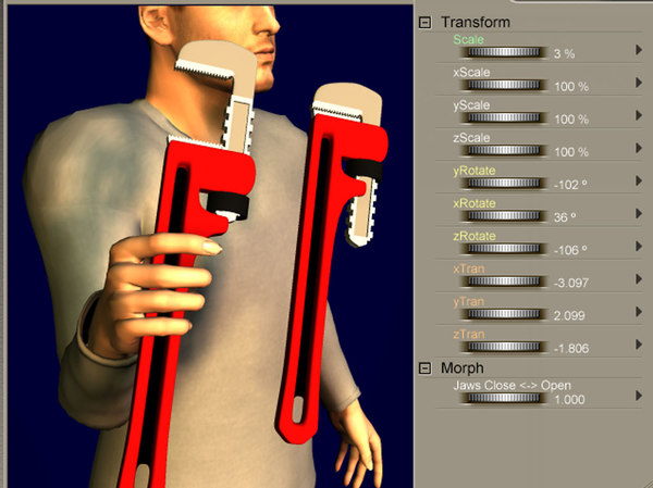 pz3 poser morph pipe