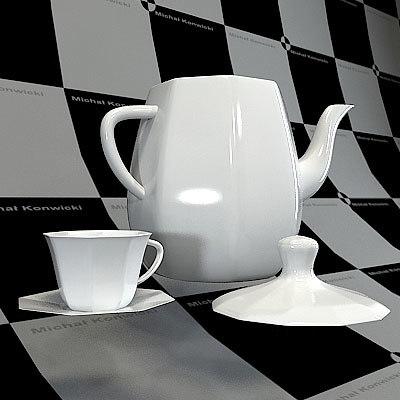 teapot cup 3d obj