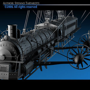 verne flying train 3d model