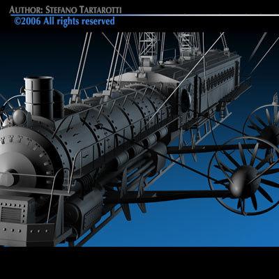 verne flying train 3d model