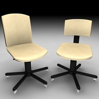 office chair set 3ds