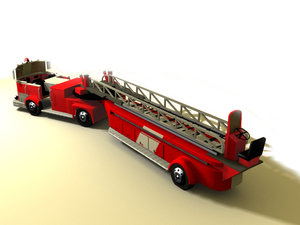 3d model ladder emergency