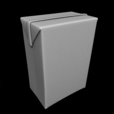3d beverage box model