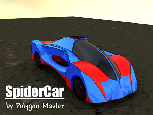 3ds max spider car