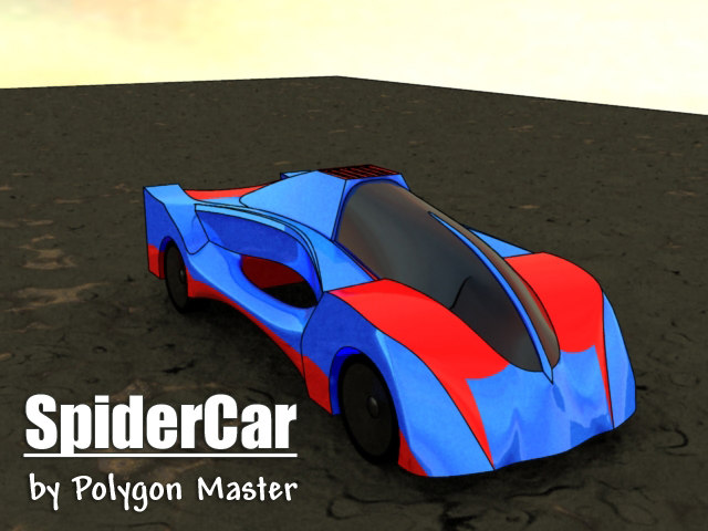3ds max spider car
