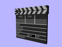 3ds max clapboard board
