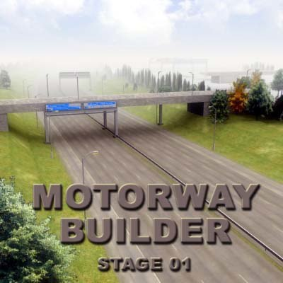 3d motorway road race tracks model
