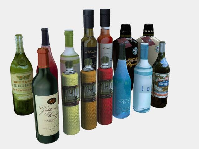 3d bottles bar architectural
