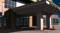 3d hotel building hospital
