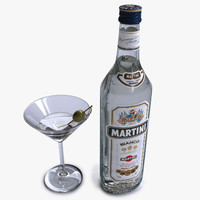 bottle martini 3d model