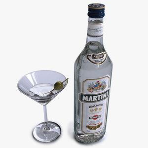 bottle martini 3d model