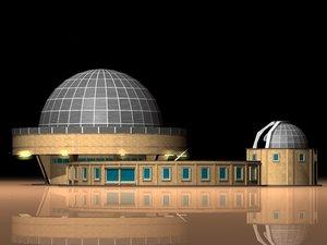 3d planetarium observatory building
