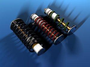 shock absorbers 3d model