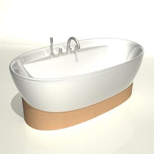 keramag f1 bath 3d model