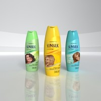 3d sunsilk shampoo bottle