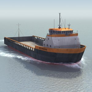 platform supply vessel 3d model
