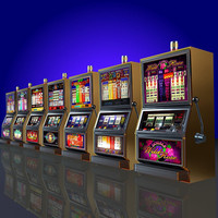 7 Low Poly Slot Machines