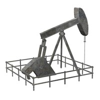 oil polygonal 3d model