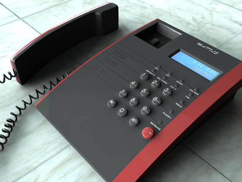 3d model of telephone tele