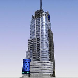3d skyscraper cities model